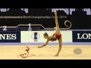 BERTOLINI Veronica (ITA) - 2014 Rhythmic Worlds, Izmir (TUR) - Qualifications Ribbon